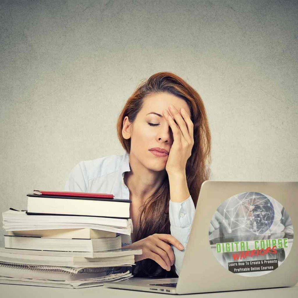 Digital Course Warriors Overwhelmed Immobility